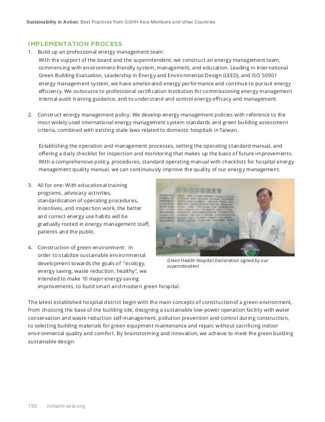 SUSTAINABILITY IN ACTION: Best Practices from GGHH Asia Members and other Countries