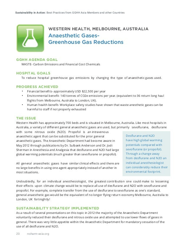 Sustainability in Action: Best Practices from GGHH Asia Members and other Countries 20 noharm-asia.org GGHH AGENDA GOAL WA...