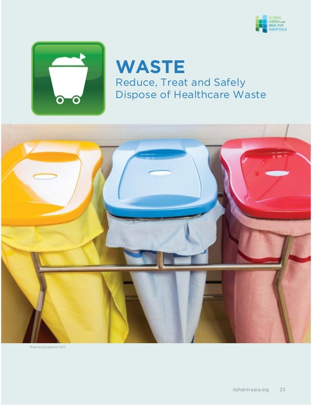 noharm-asia.org 23 WASTE Reduce, Treat and Safely Dispose of Healthcare Waste Photo by cylonphoto/123rf
