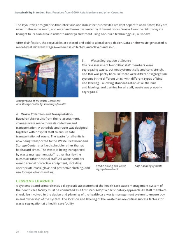 Sustainability in Action: Best Practices from GGHH Asia Members and other Countries 26 noharm-asia.org The layout was desi...