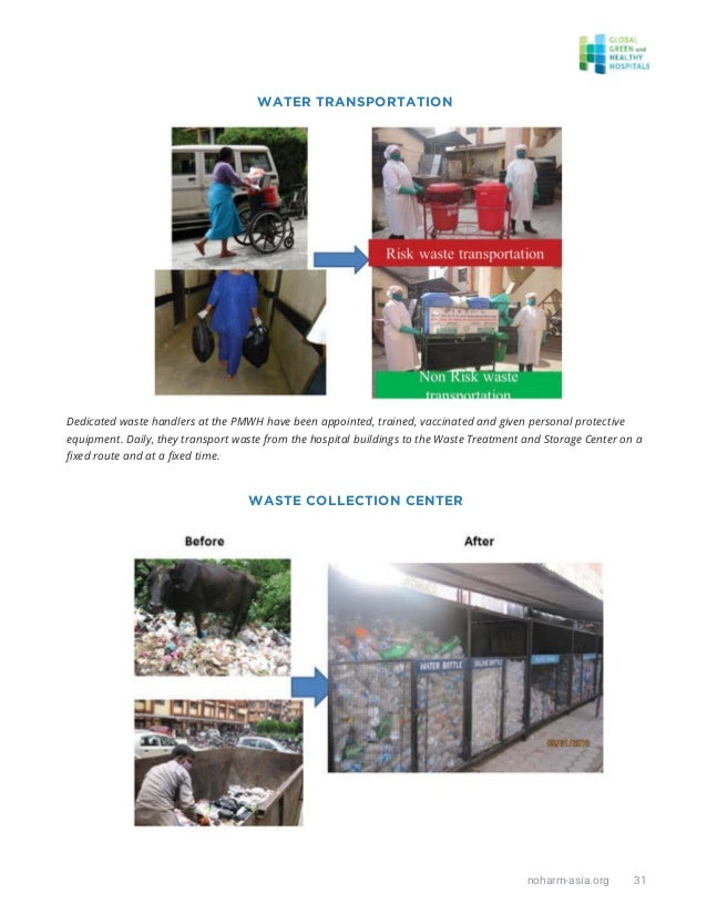 noharm-asia.org 31 Dedicated waste handlers at the PMWH have been appointed, trained, vaccinated and given personal protec...