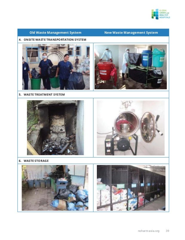 noharm-asia.org 39 Old Waste Management System New Waste Management System 4. ONSITE WASTE TRANSPORTATION SYSTEM 5. WASTE ...
