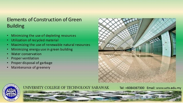 A description of the differences between sustainable and for Green building resources