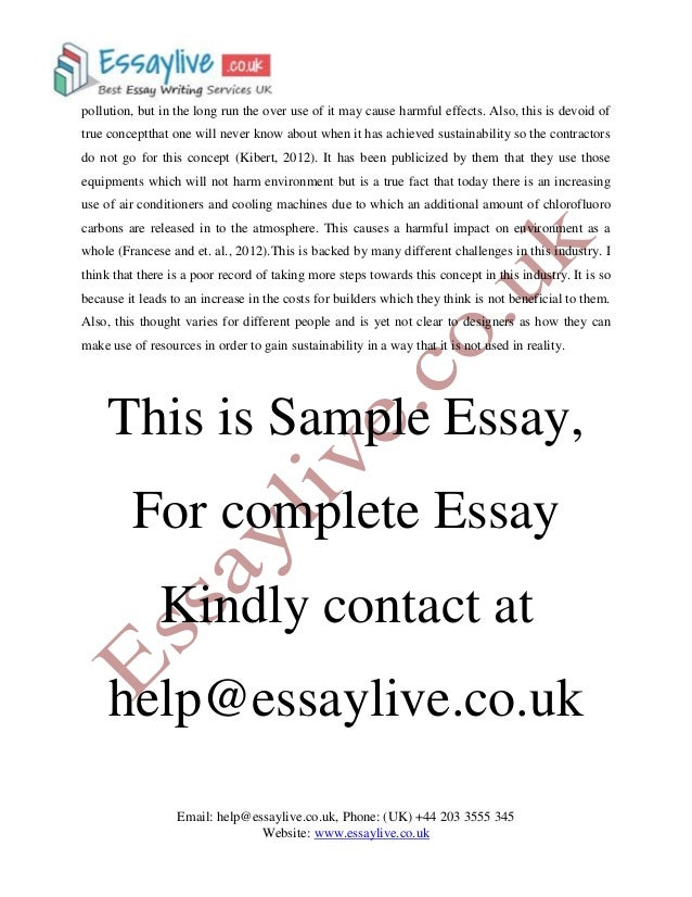 sustainability in construction essay sample sustainable and not lead to 3