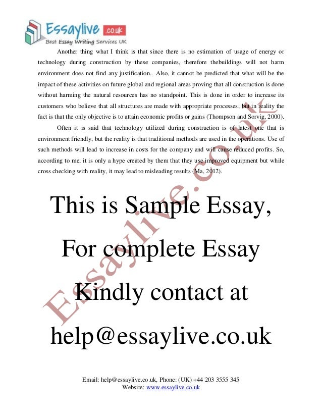 sustainability in construction essay sample  4