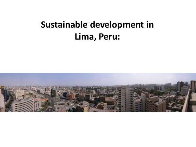 Sustainable development in Lima, Peru: