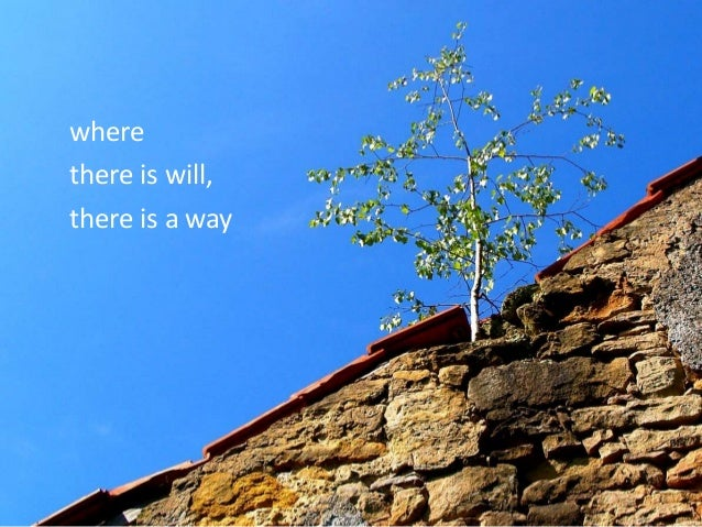 where there is will, there is a way