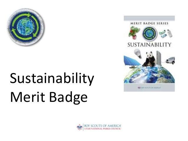 Sustainability Merit Badge