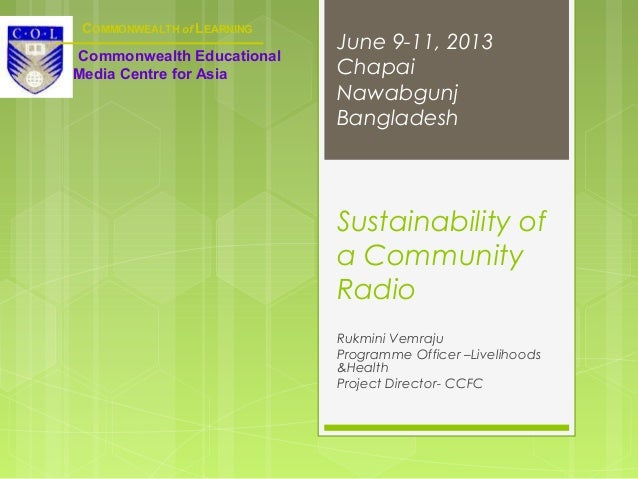 Sustainability of a Community Radio