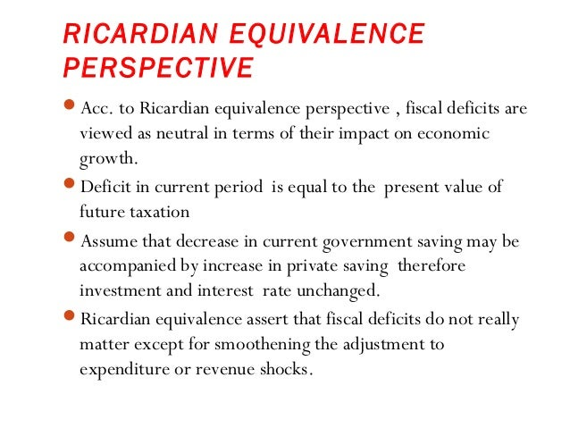 """ricardian equivalence and keynesian macroeconomics 20 if ricardian equivalence holds households increase their saving to offset from econ  """"after keynesian macroeconomics,"""" federal reserve bank of."""
