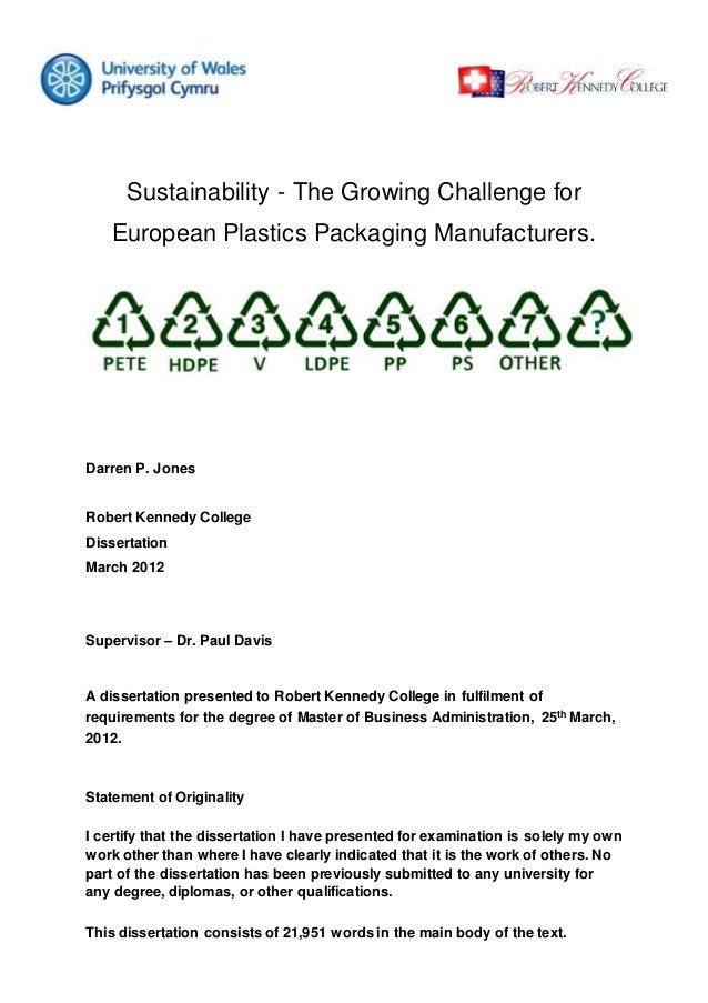 Sustainability - The Growing Challenge for European Plastics