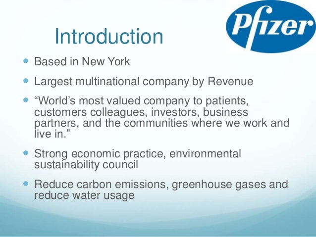 about pfizer