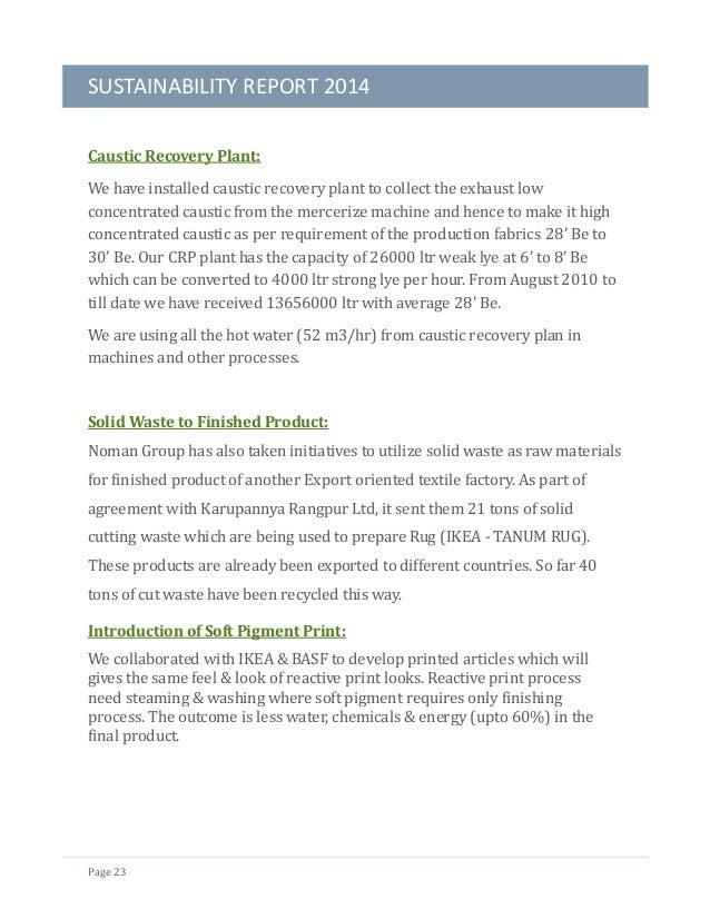 Noman Group Sustainability Report 2014