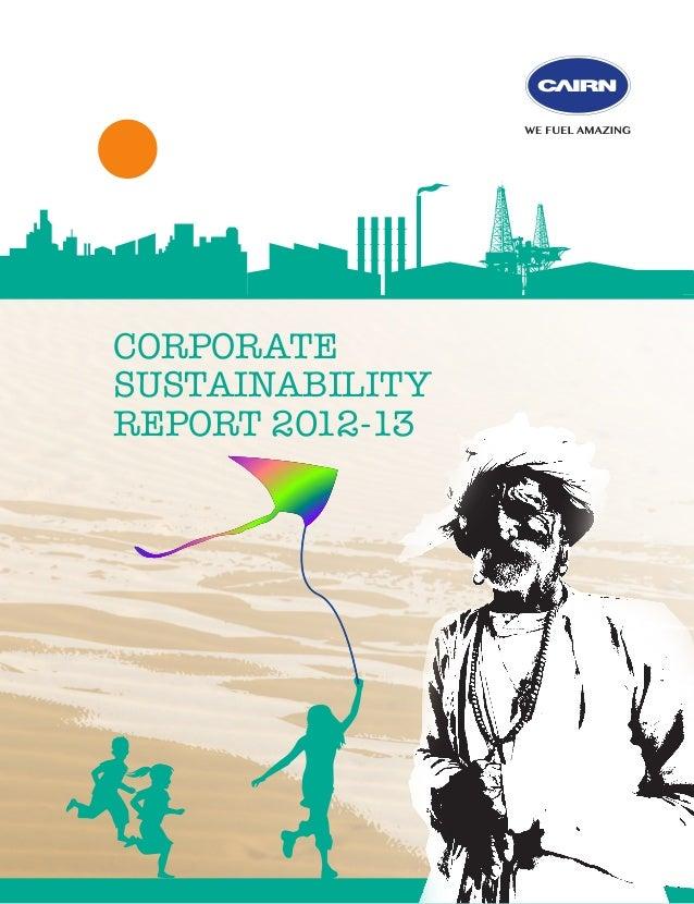 CORPORATE SUSTAINABILITY REPORT 2012-13