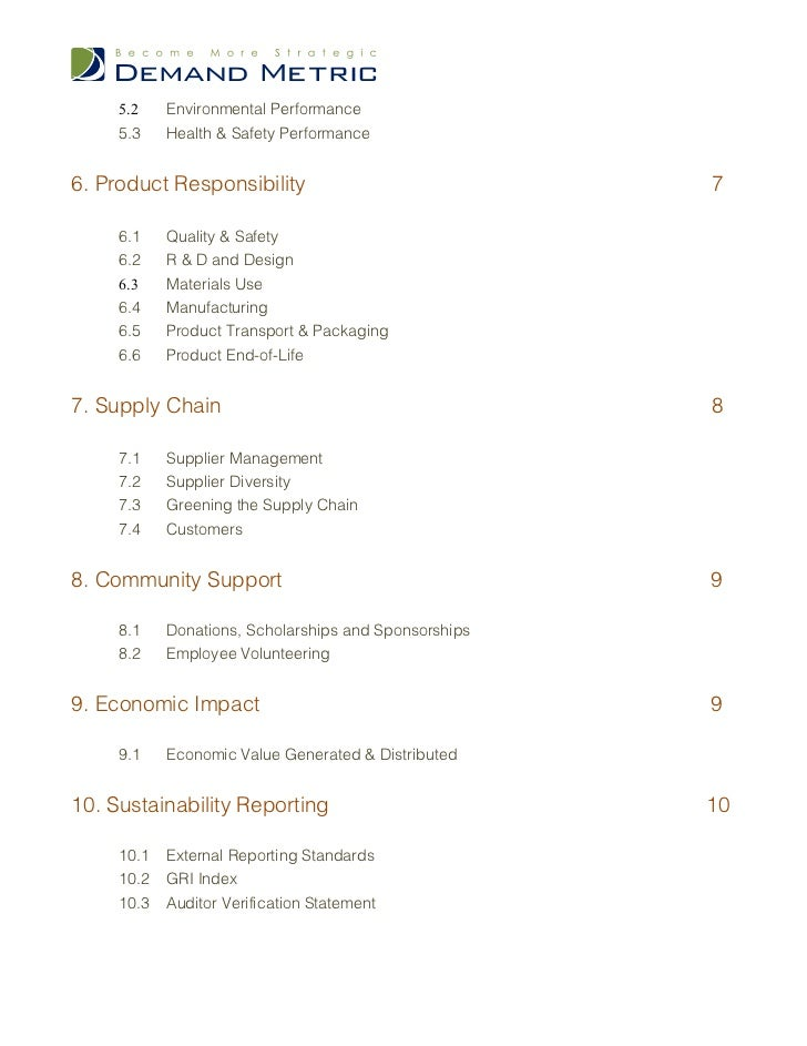 environmental sustainability policy template resume ideas