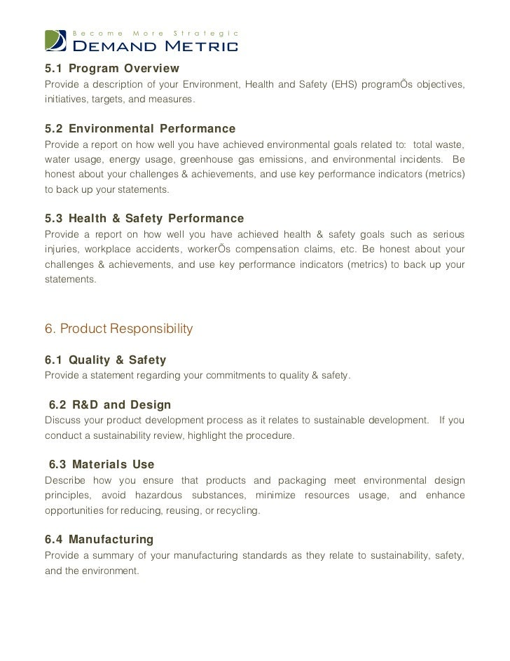Sustainability Report Template