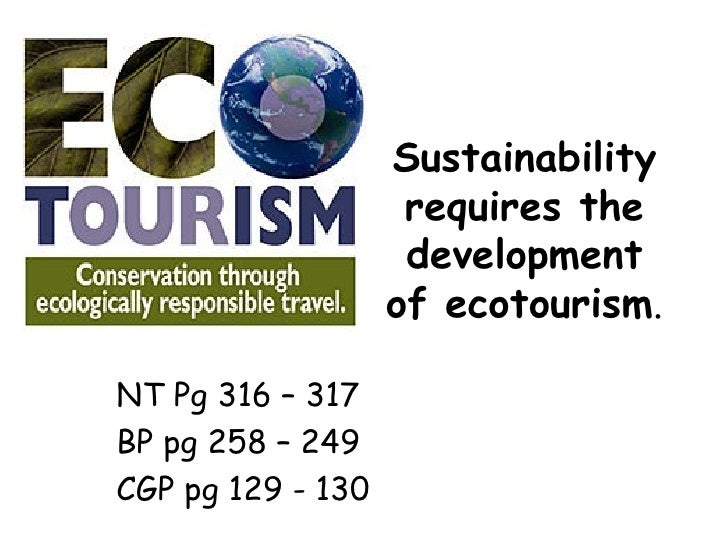 Sustainability requires the