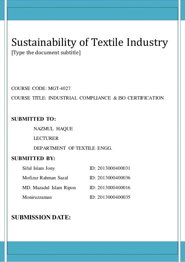 conclusion in textile industry Conclusion notes bbliography i introduction this paper is about the all-time history of the textile industry in egypt famous for being one of the most developed.