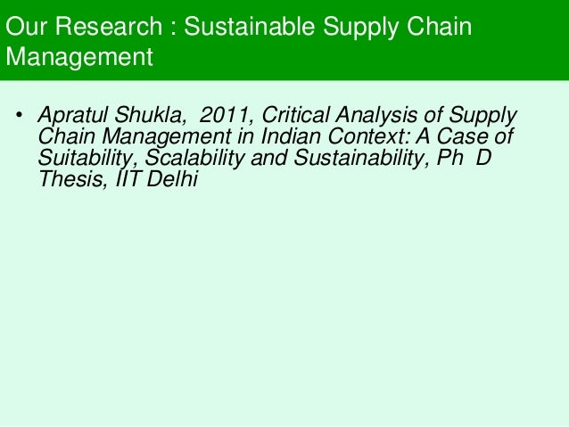 sustainable supply chain thesis