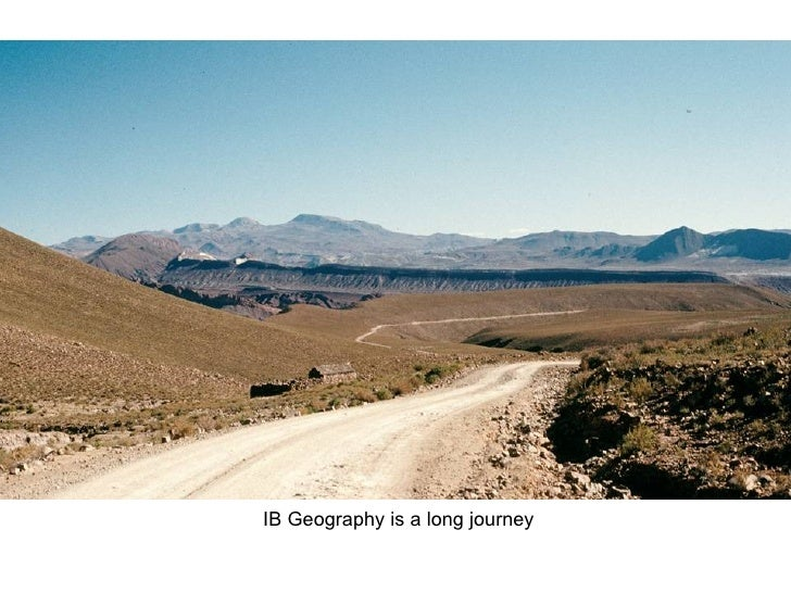 IB Geography is a long journey