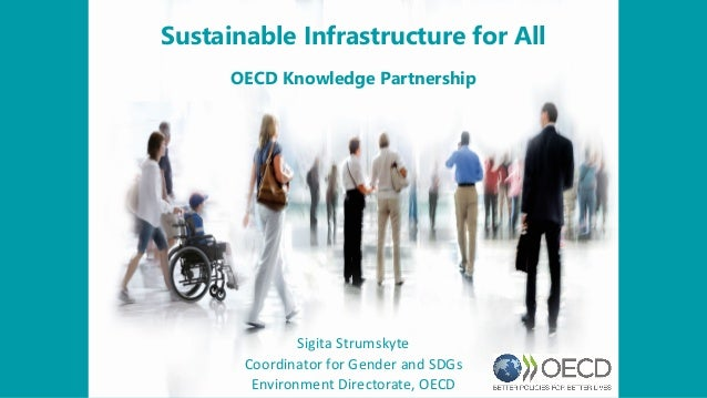 Sustainable Infrastructure for All OECD Knowledge Partnership Sigita Strumskyte Coordinator for Gender and SDGs Environmen...