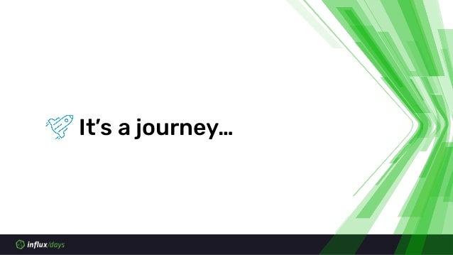 It's a journey…