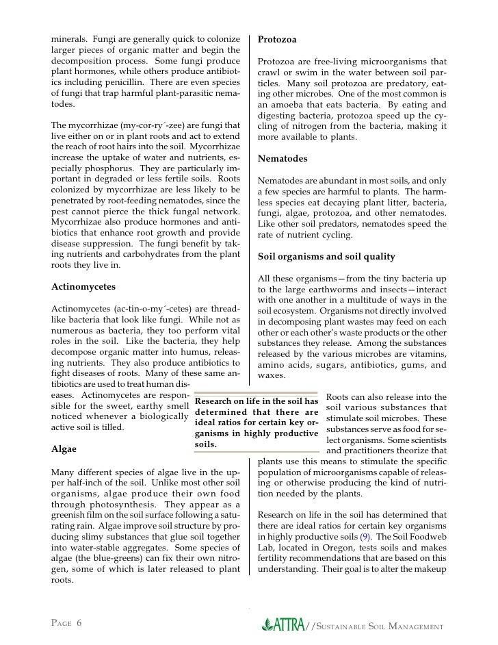 Sustainable soil management for Soil management