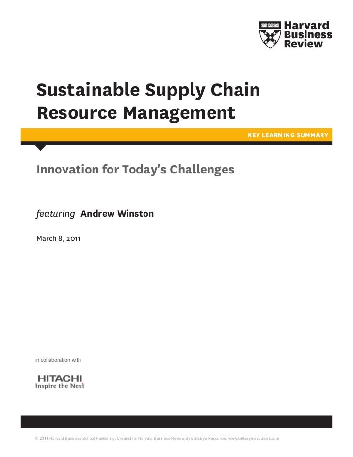 Sustainable Supply ChainResource Management                                                                               ...