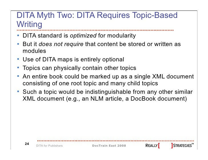 5209dc187fa2 Sustainable XML for Publishing Applications  DITA Makes It Possible