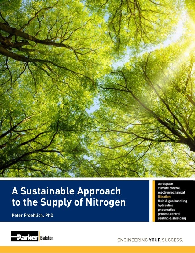A Sustainable Approach to the Supply of Nitrogen Peter Froehlich, PhD
