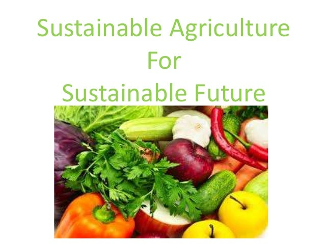 Sustainable Agriculture For Sustainable Future