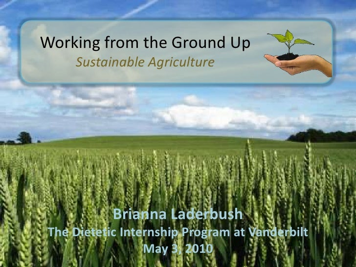 Sustainable agriculture presentation working from the ground upbr sustainable agriculturebr brianna toneelgroepblik