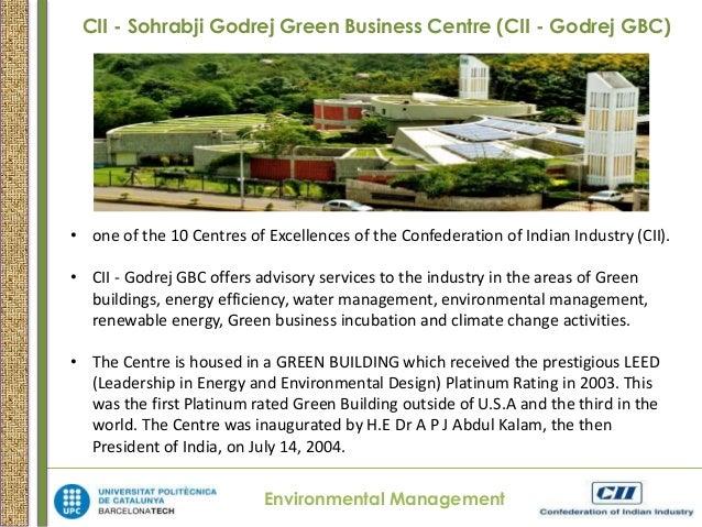 Cii sohrabji godrej green business centre case study