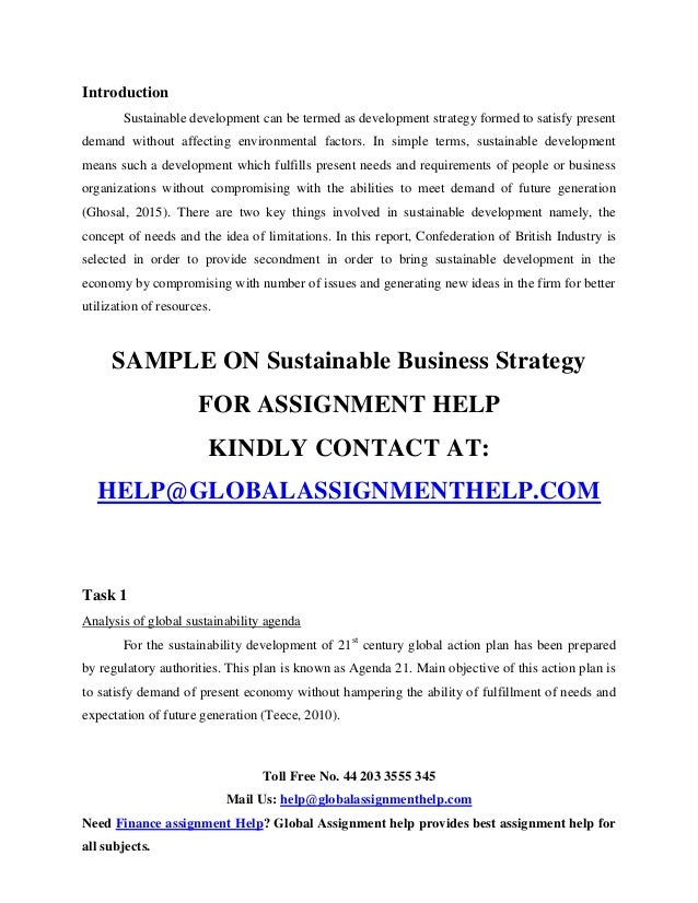 corporate and global strategy assignment business essays Corporate social responsibility (csr) addendum  and business ethics • align corporate strategy,  the local community and global environment of your business.