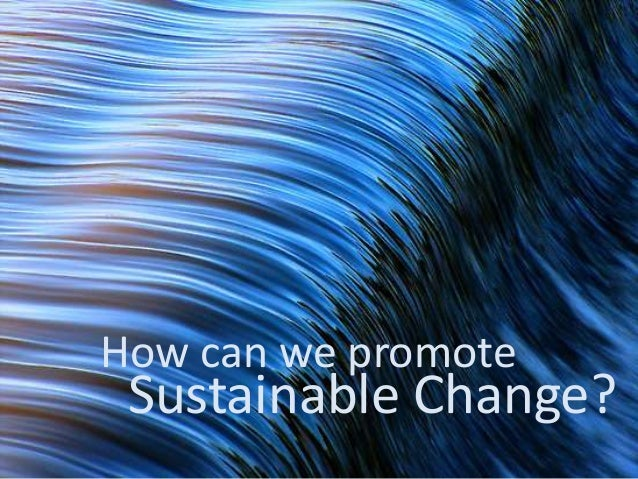 How can we promote Sustainable Change?