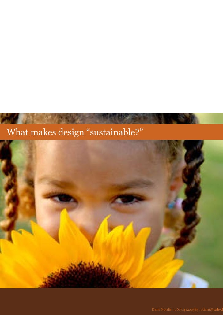 """What makes design """"sustainable?"""""""