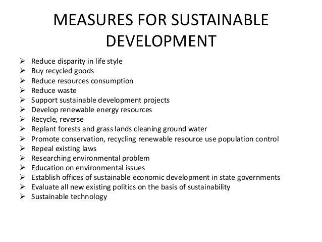 short note on sustainable development