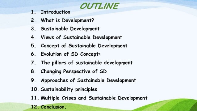 how to bring sustainable development