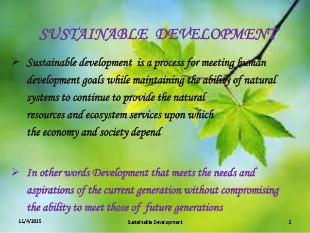 sustainale development The division for sustainable development (dsd) of un-desa provides leadership in promoting and coordinating implementation of the sustainable development agenda of.