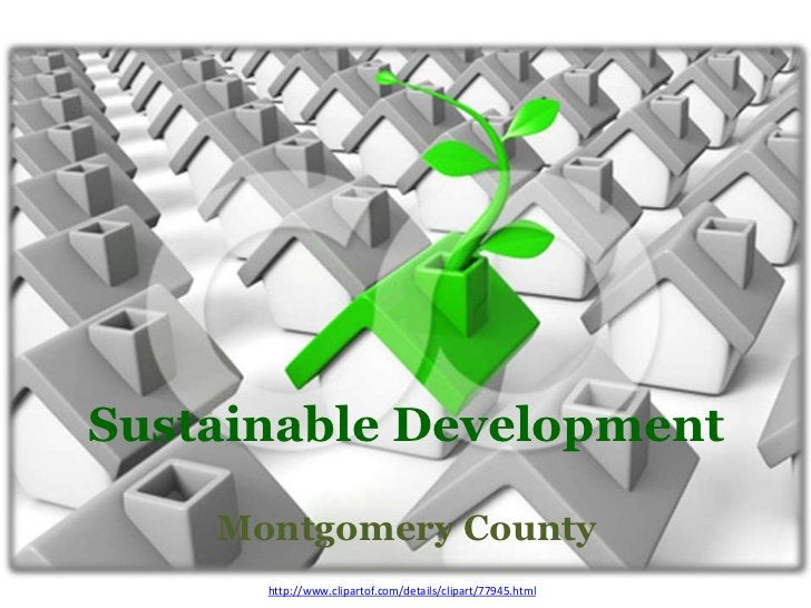Sustainable Development    Montgomery County      http://www.clipartof.com/details/clipart/77945.html