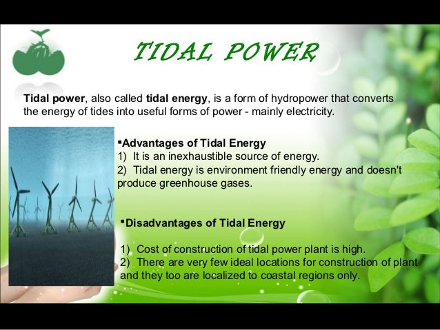 Sustainable energy ppt tidal powertidal power sciox Image collections