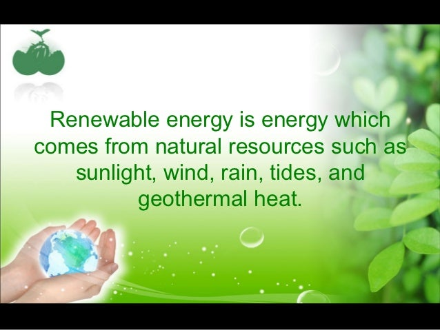 sustainable energy ppt renewable energy