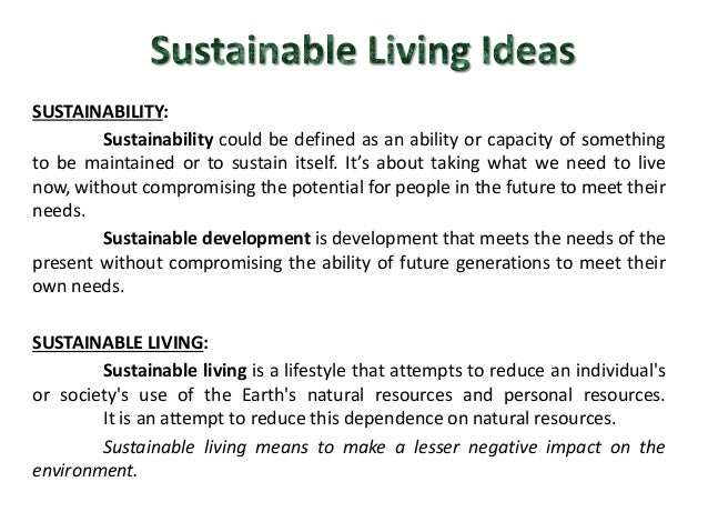 sustainable living ideas