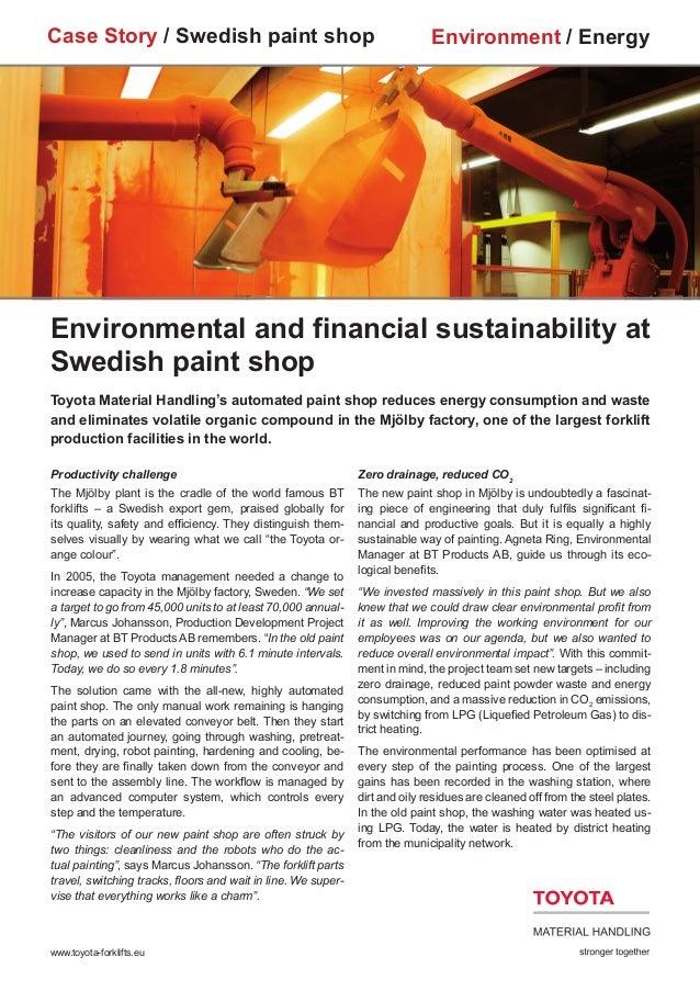 Case Story / Swedish paint shop                                               Environment / EnergyEnvironmental and financ...