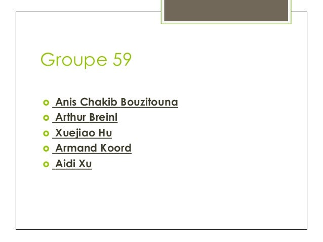 Groupe 59 Anis Chakib Bouzitouna  ›  Arthur Breinl  ›  Xuejiao Hu  ›  Armand Koord  ›  Aidi Xu ›