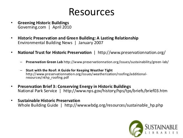 Sustainable Restoration Of Historic Buildings