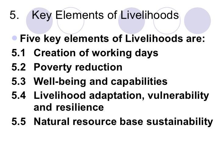 Sustainable rural livelihoods (L 3)