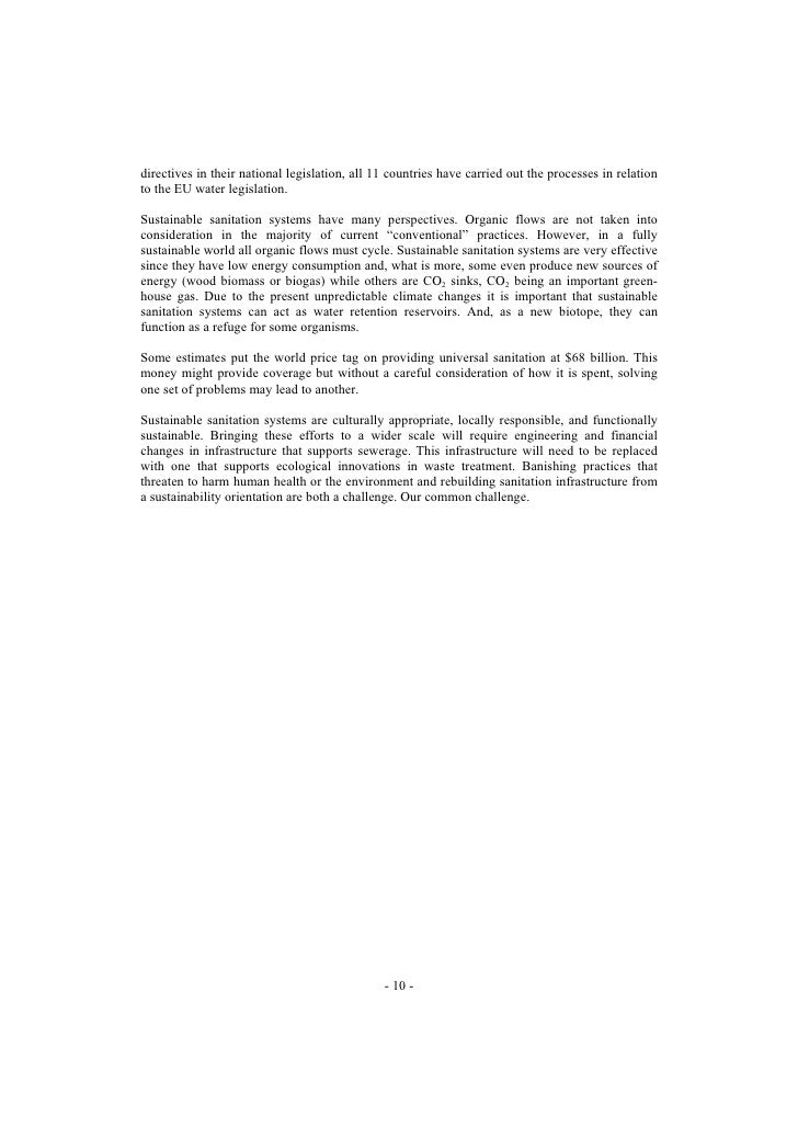 directives in their national legislation, all 11 countries have carried out the processes in relation to the EU water legi...