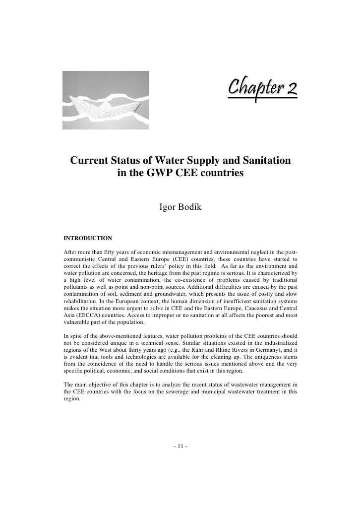 Chapter 2     Current Status of Water Supply and Sanitation            in the GWP CEE countries                           ...