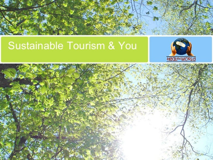 Sustainable Tourism & You